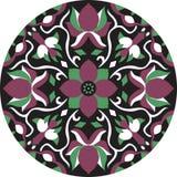 Dirigez le modèle traditionnel oriental de circulaire de poisson rouge de fleur de lotus Photographie stock libre de droits