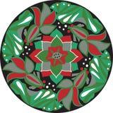 Dirigez le modèle traditionnel oriental de circulaire de poisson rouge de fleur de lotus Photo libre de droits