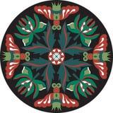 Dirigez le modèle traditionnel oriental de circulaire de poisson rouge de fleur de lotus Images libres de droits