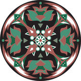 Dirigez le modèle traditionnel oriental de circulaire de poisson rouge de fleur de lotus Image libre de droits