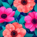 Dirigez le modèle tropical avec waterlily, fleur de lotus Modèle sur toute la surface floral étonnant, avec le grand beau vintage Photographie stock