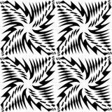 Dirigez le modèle sans couture moderne de la géométrie, résumé noir et blanc Photographie stock libre de droits