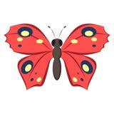 Dirigez le papillon, l'élément décoratif pour la broderie, les corrections, les autocollants et le décor Photographie stock