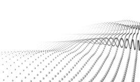 Dirigez le paysage numérique futuriste abstrait avec des points et des étoiles de particules sur l'horizon Intelligence artificie Images stock