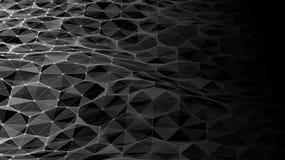Dirigez le paysage numérique futuriste abstrait avec des points et des étoiles de particules sur l'horizon Intelligence artificie Photos libres de droits