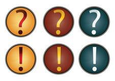 Dirigez le point d'interrogation et l'information Images stock