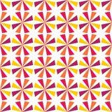Dirigez le profil sous convention astérisque coloré sans couture moderne de la géométrie, abrégé sur couleur Images libres de droits