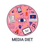 Dirigez le régime d'illustration ou de médias en cercle photos libres de droits