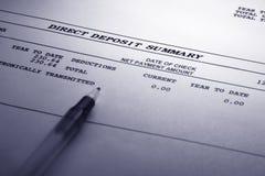 Dirigez le résumé de dépôt de garantie Images libres de droits