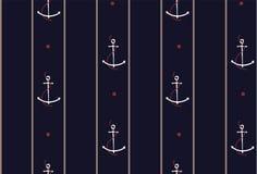Dirigez le rétro modèle sans couture, corde avec des ancres Peuvent être les FO utilisées illustration stock