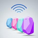Dirigez le radar de maison et de bureau de dispositif de balise de conception Utilisation pour tout le s Photos libres de droits