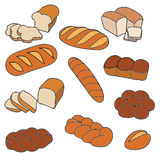 Dirigez le ramassage de pains Photos stock