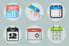 Dirigez le rendez-vous de plan de papier de graphique de gestion d'organisateur de bureau d'icônes de Web de calendrier et l'élém Photos stock