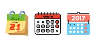 Dirigez le rendez-vous de plan de papier de graphique de gestion d'organisateur de bureau d'icônes de Web de calendrier et l'élém Images stock