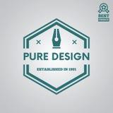 Dirigez le style de vintage d'éléments, de label, d'insigne et de silhouette de logotype Photos stock