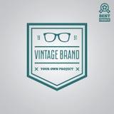 Dirigez le style de vintage d'éléments, de label, d'insigne et de silhouette de logotype Images libres de droits