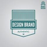 Dirigez le style de vintage d'éléments, de label, d'insigne et de silhouette de logotype illustration stock