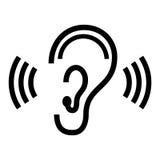 Dirigez le symbole d'oreille Photographie stock
