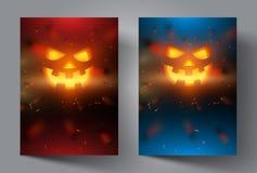 Dirigez le visage de potiron sur le fond coloré moderne pour l'insecte, couverture, bannière, brochure, affiche Images stock