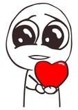 Dirigez le visage heureux de meme de type d'amour pour n'importe quelle conception ENV 10 illustration de vecteur