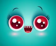Dirigez le visage mignon du monstre pour le masque de Halloween Illustration Stock