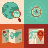 Dirigez le voyage et les concepts de généralistes dans le style plat illustration de vecteur