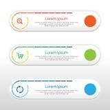 Dirigez les étapes, bannières de progrès avec la bannière colorée Image stock
