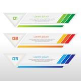 Dirigez les étapes, bannières de progrès avec la bannière colorée Photo stock