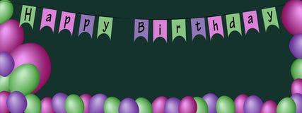 Dirigez les ballons gonflables le jour de la décoration de naissance avec f illustration de vecteur