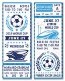 Dirigez les billets de la coupe du monde du football du football 2018 Image stock