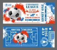 Dirigez les billets de la coupe du monde du football du football 2018 Image libre de droits