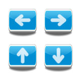 Dirigez les boutons de flèche Photo stock