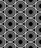 Dirigez les cercles sans couture modernes de modèle de la géométrie concentriques, résumé noir et blanc Photo stock