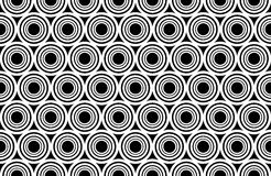 Dirigez les cercles sans couture modernes de modèle de la géométrie concentriques, résumé noir et blanc Images stock
