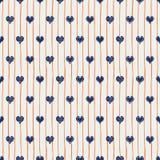Dirigez les coeurs bleus et le fond sans couture de modèle de répétition de rayures oranges Perfectionnez pour le tissu, papeteri illustration stock