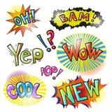 Dirigez les corrections d'art de bruit et les bulles modernes de la parole Photos libres de droits