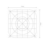 Dirigez les dimensions d'icône d'APP, ligne de grille de développement Image stock