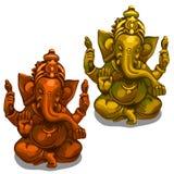 Dirigez les figurines de la divinité indienne de Ganesha Photos stock