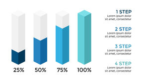 Dirigez les flèches 3D infographic, diagramme de diagramme, présentation de graphique Concept d'affaires avec 4 options, pièces,  Photo libre de droits