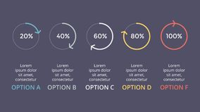 Dirigez les flèches de cercle infographic, pour cent de cycle diagram, graphique de statut, présentation Photographie stock libre de droits