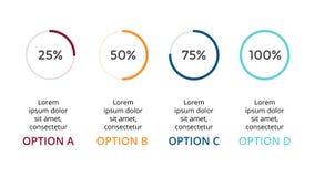 Dirigez les flèches de cercle infographic, pour cent de cycle diagram, graphique de statut, diagramme de présentation Concept d'a Photos stock