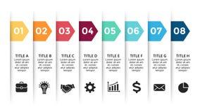 Dirigez les flèches de papier infographic, bannières diagram, des labels graphique, diagramme de présentation d'autocollants Conc Illustration de Vecteur