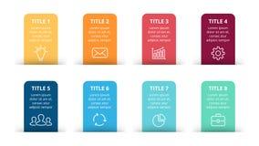 Dirigez les flèches de papier infographic, bannières diagram, des labels graphique, diagramme de présentation d'autocollants Conc Illustration Libre de Droits