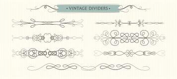 Dirigez les flourishes tirés par la main, les diviseurs, De de haute qualité graphique Images stock