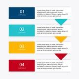 Dirigez les graphiques colorés d'infos pour vos présentations d'affaires illustration libre de droits