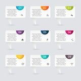 Dirigez les graphiques colorés d'infos pour vos présentations d'affaires Images stock
