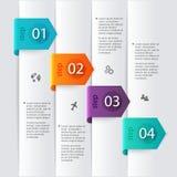 Dirigez les graphiques colorés d'infos pour vos présentations d'affaires Photographie stock libre de droits