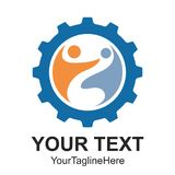 Dirigez les icônes abstraites machine de vitesse et l'illustratio de logo de mouvement illustration stock