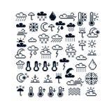 Dirigez les icônes de pixel, collection de grap de la météorologie 8bit Photos stock