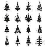 Dirigez les icônes noires de l'arbre de Noël illustration libre de droits